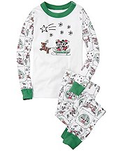 Disney Mickey Mouse Long John Pajamas In Organic Cotton by Hanna Andersson