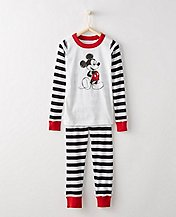 Disney Mickey Mouse Kids Long John Pajamas In Organic Cotton by Hanna Andersson