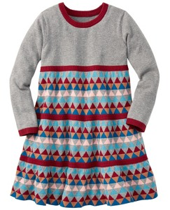Geo Twirl Sweater Dress by Hanna Andersson