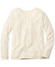 Glitter Tee In Pima Cotton by Hanna Andersson