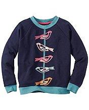 Get Appy Appliqué Sweatshirt In 100% Cotton by Hanna Andersson
