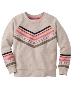 Ribbon Trim Sweatshirt In 100% Cotton by Hanna Andersson