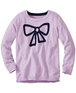 Girls Hi-Lo Intarsia Sweater by Hanna Andersson