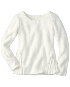 Shaker Stitch Peplum Sweater by Hanna Andersson