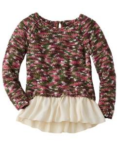 Chiffon Peplum Sweater by Hanna Andersson
