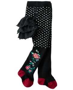Flower Vine Ruffle Tights by Hanna Andersson