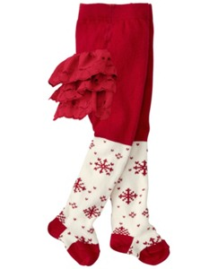 Shimmer Snowflake Ruffle Tights by Hanna Andersson