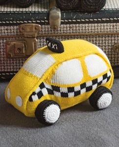 Handknit Taxi Pillow by Hanna Andersson