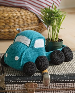 Handknit Truck & Trailer Pillow by Hanna Andersson