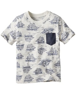 Print Tee With Pocket by Hanna Andersson