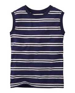 Sueded Jersey Stripe Tank by Hanna Andersson