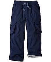 Boys Jersey Lined Cargos by Hanna Andersson