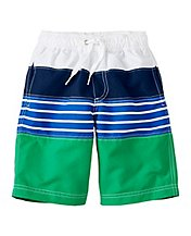 Colorblock Board Shorts With UPF 50+ by Hanna Andersson