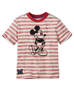 Disney Mickey Mouse Art Tee In Slub Jersey by Hanna Andersson