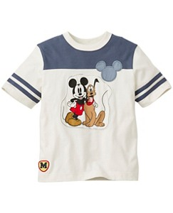 Disney Mickey Mouse Appliqué Jersey In Supersoft Jersey by Hanna Andersson