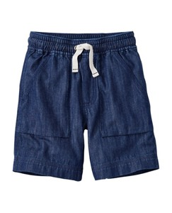 Washed Chambray Cabin Shorts by Hanna Andersson