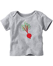 Get Appy Appliqué Tee In Organic Cotton by Hanna Andersson
