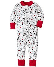 Snoopy Be Mine Baby Sleepers In Pure Organic Cotton by Hanna Andersson