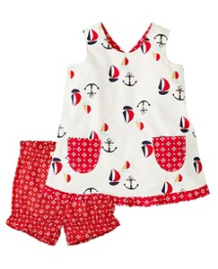 Smooth Sailing Reversible Pinafore Set by Hanna Andersson