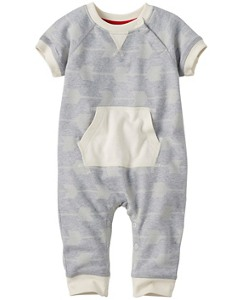 Raglan Romper In French Terry by Hanna Andersson