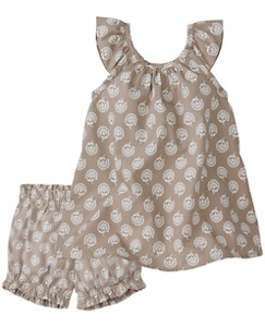 Ruffle Sundress & Bloomer Set by Hanna Andersson