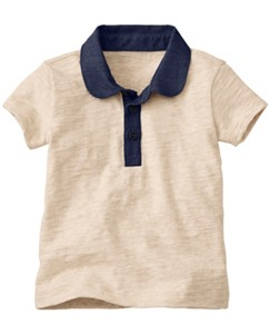 Supersoft Slub Jersey Polo by Hanna Andersson