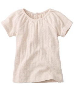 Soft Pointelle Tee by Hanna Andersson
