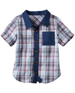 Plaid Hipster Shirt by Hanna Andersson