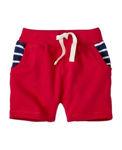 Stripey Pocket Shorts in French Terry by Hanna Andersson