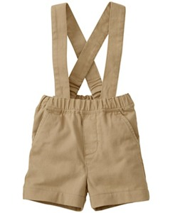 Chino Suspender Shorts by Hanna Andersson