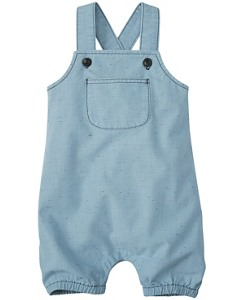 Washed Chambray Romper by Hanna Andersson