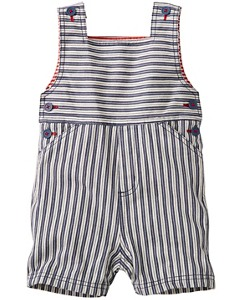 Ticking Stripe Shortalls by Hanna Andersson