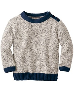Marled Pop Over Sweater by Hanna Andersson