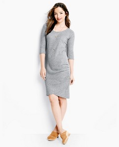 Slipover Dress In Pima Jacquard by Hanna Andersson