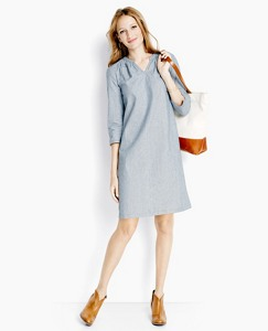 Popover Tunic Dress In Ticking Stripe by Hanna Andersson