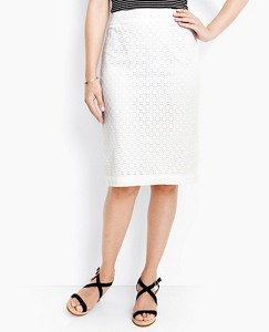 Pencil Skirt In Cotton Eyelet by Hanna Andersson