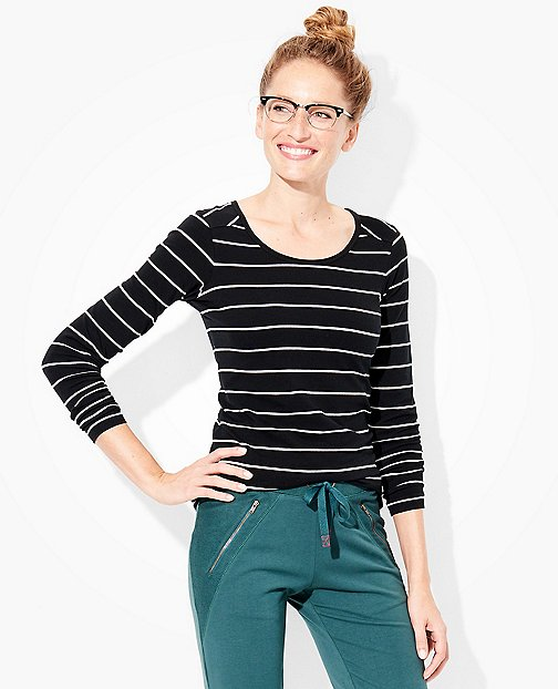 Women's Stripe Pima Tee by Hanna Andersson