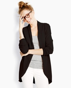 Long Open Cardigan In Cotton Cashmere by Hanna Andersson