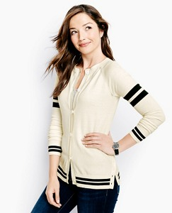 Sleeve Stripe Cardigan by Hanna Andersson