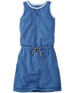 Zipback Dress In French Terry by Hanna Andersson