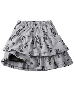 Two Tiers Scooter Skirt In French Terry by Hanna Andersson