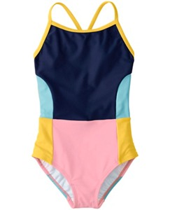 Colorblock Crossback One Piece by Hanna Andersson