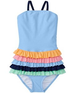 Rainbow Ruffle One Piece by Hanna Andersson