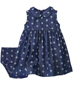 Blue Happiness Dress Set by Hanna Andersson