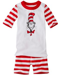 Kids Dr. Seuss Short John Pajamas In Organic Cotton by Hanna Andersson