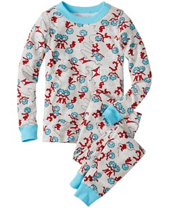 Dr. Seuss Long John Pajamas In Organic Cotton by Hanna Andersson
