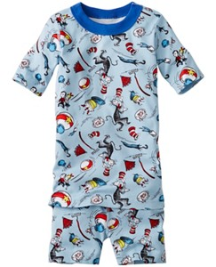 Dr. Seuss Short John Pajamas In Organic Cotton by Hanna Andersson