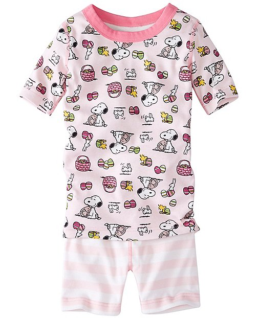 Kids Peanuts Short John Pajamas In Organic Cotton by Hanna Andersson