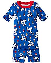 Peanuts Short John Pajamas In Organic Cotton by Hanna Andersson