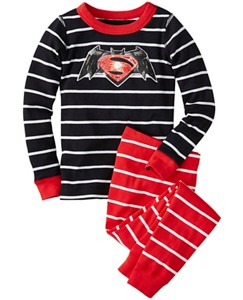 DC Comics™ Batman v Superman Long John Pajamas In Organic Cotton by Hanna Andersson
